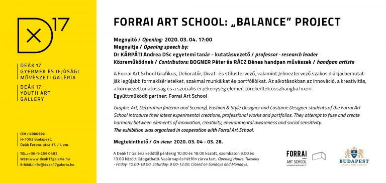 FORRAI ART SCHOOL: 'BALANCE' PROJECT