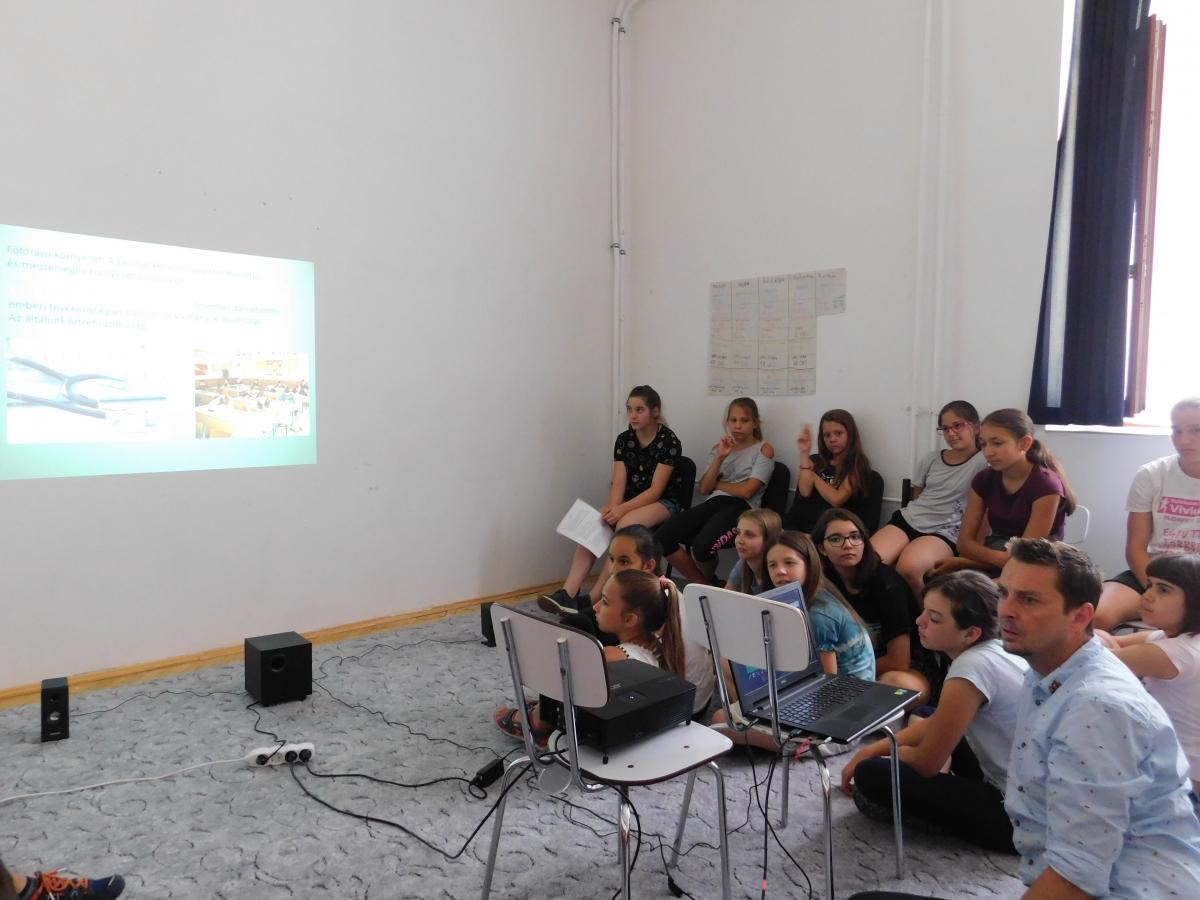 Környezetvédelmi nyári tábor Pilisszántón 2018