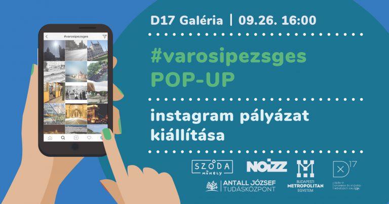 Városi pezsgés pop-up kiállítás