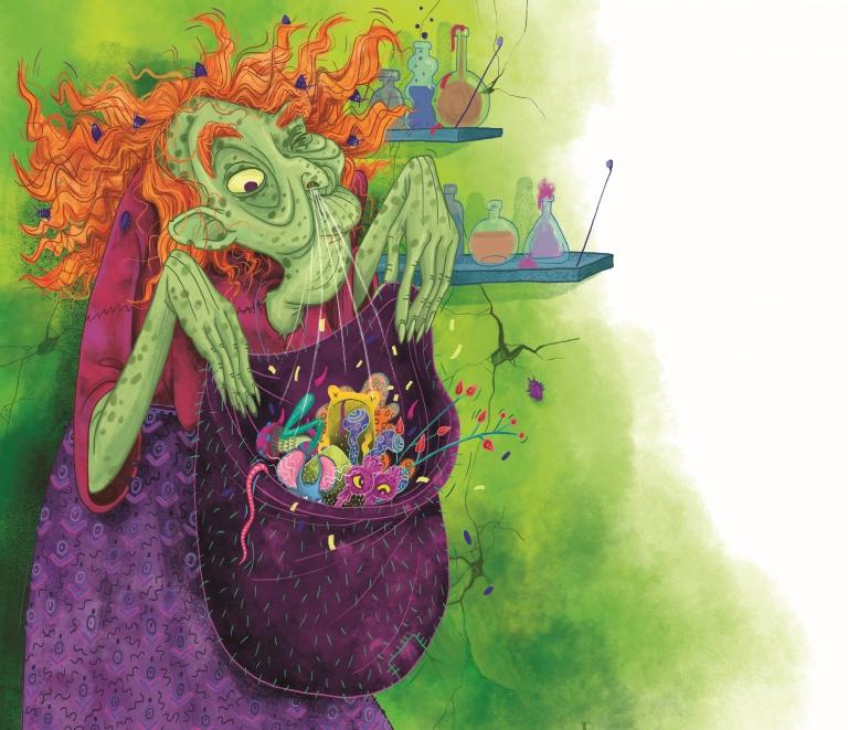 ÖRDÖGÖK-BOSZORKÁK-KÍSÉRTETEK - Metzing Eszter illusztrációja