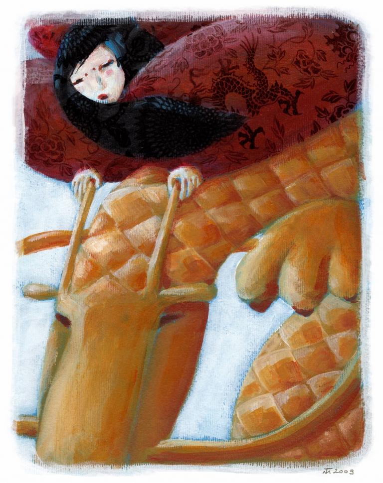 SÁRKÁNYOK - Takács Mari illusztrációja 1