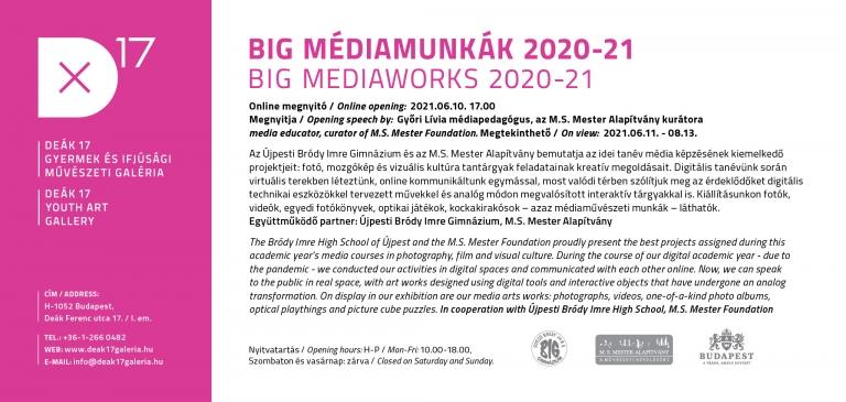 BIG médiamunkák 2020-21